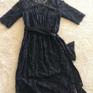Luxury Black Lace Maternity Cocktail Dress